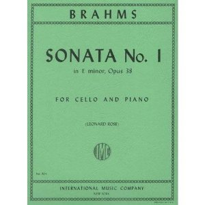 Brahms, Johannes - Sonata No. 1 in e minor Op. 38 for Cello and Piano - by Rose - International